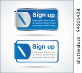 sign up button or icon with... | Shutterstock .eps vector #94301428