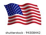 Raster Illustration Of The Usa...