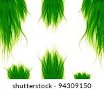 Green Hair Isolated On The...
