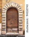 rome  italy. old door  italian... | Shutterstock . vector #94310743