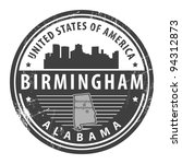 Grunge rubber stamp with name of Alabama, Birmingham, vector illustration