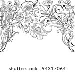 decorative floral background... | Shutterstock . vector #94317064