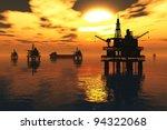 sea oil platform and tanker in... | Shutterstock . vector #94322068
