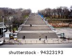 View of the Potemkin steps in Odessa, Ukraine