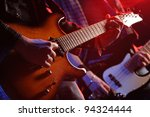 rock musicians playing at a... | Shutterstock . vector #94324444