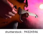 guitar player in action on stage | Shutterstock . vector #94324546