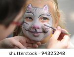 Little Girl With Painting Face...