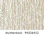 seamless pattern with forest ...