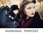 fashion shot of a beautiful ... | Shutterstock . vector #94341523