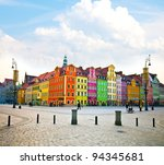 wroclaw city center  market... | Shutterstock . vector #94345681