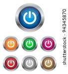 power buttons | Shutterstock .eps vector #94345870