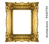 vintage gold picture frame | Shutterstock . vector #9434794