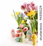 easter eggs  with spring...   Shutterstock . vector #94350229