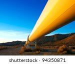 sunrise on a pipeline in the... | Shutterstock . vector #94350871
