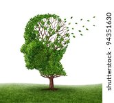 dealing with dementia and... | Shutterstock . vector #94351630