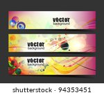 abstract vector web header... | Shutterstock .eps vector #94353451
