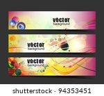 abstract vector web header... | Shutterstock .eps vector #94353451