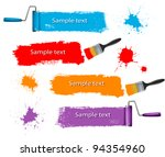 paint brush and paint roller... | Shutterstock .eps vector #94354960