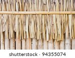 Dried Leaves Of The Nipa Palm...