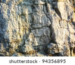 Cliff Face Close Up In France.
