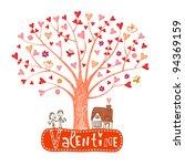 Valentine Tree  Leaf Are  Hearts