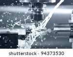 close up of cnc machine at work | Shutterstock . vector #94373530