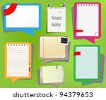 set of the notebooks with... | Shutterstock .eps vector #94379653