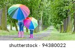 mother and her daughter with... | Shutterstock . vector #94380022
