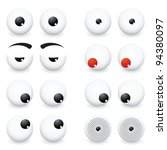 collection of eye ball cartoon... | Shutterstock .eps vector #94380097