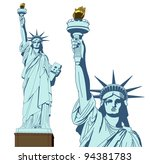 of vector Statue liberty