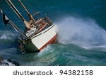 yacht crash on the rocks in... | Shutterstock . vector #94382158