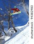 snowboarder jumping against... | Shutterstock . vector #94382983