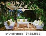 patio romantic in the evening... | Shutterstock . vector #94383583