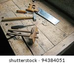 antique carpenter's tools on... | Shutterstock . vector #94384051