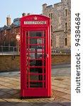 Red British Telephone Box In...