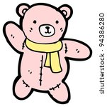 pink teddy bear cartoon  raster ...   Shutterstock . vector #94386280