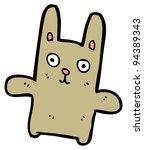 Raster Version  Cartoon Rabbit