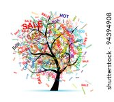 shopping tree concept for your... | Shutterstock .eps vector #94394908