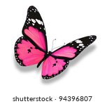 Stock photo pink butterfly isolated on white 94396807