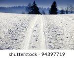 Empty Cross Country Ski Track