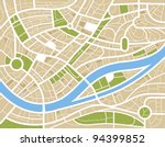 abstract city map illustration | Shutterstock .eps vector #94399852