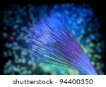 Abstract Internet technology fiber optic background - stock photo