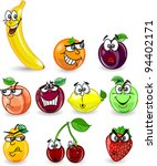 cartoon orange  banana  apples  ... | Shutterstock .eps vector #94402171