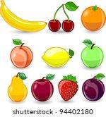 cartoon orange  banana  apples  ... | Shutterstock .eps vector #94402180