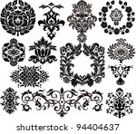 damask elements | Shutterstock .eps vector #94404637