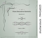 floral decoration elements set. ... | Shutterstock .eps vector #94416025