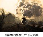 Vintage Steam Train Starting...