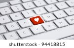 white keyboard with heart sign | Shutterstock . vector #94418815