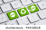 Eco Keyboard  Green Recycling...