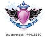 pink shield crest | Shutterstock .eps vector #94418950